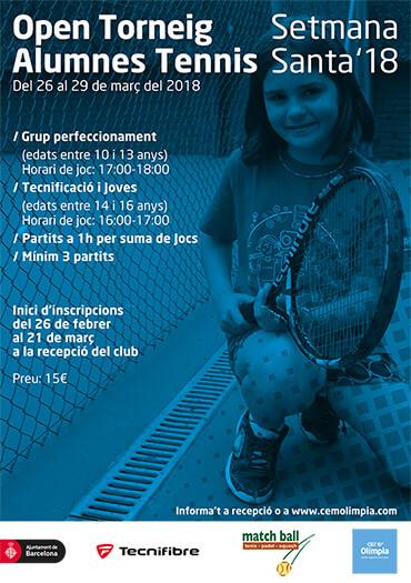 Poster Open Torneig Alumnes Tennis